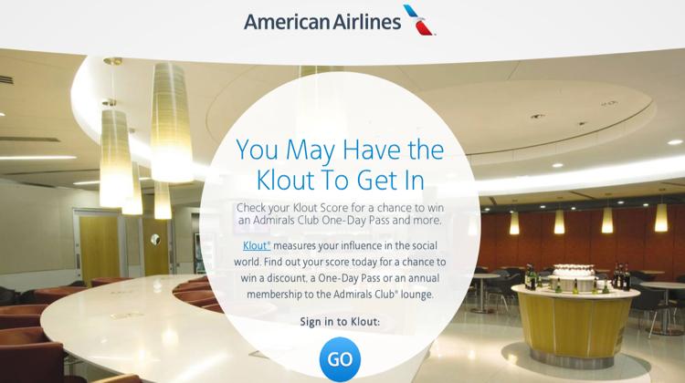 อเมริกันแอร์ไลน์ ใช้แต้ม Klout เข้าคลับฟรีที่สนามบิน