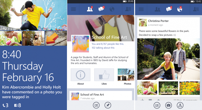 New Facebook Windows Phone Beta