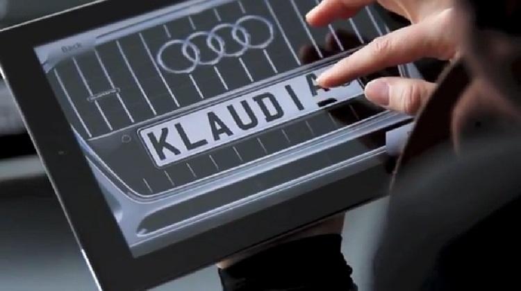 Audi เพิ่มเสน่ห์โชว์รูมด้วยแอปเปลี่ยนทะเบียนรถตามใจฉัน