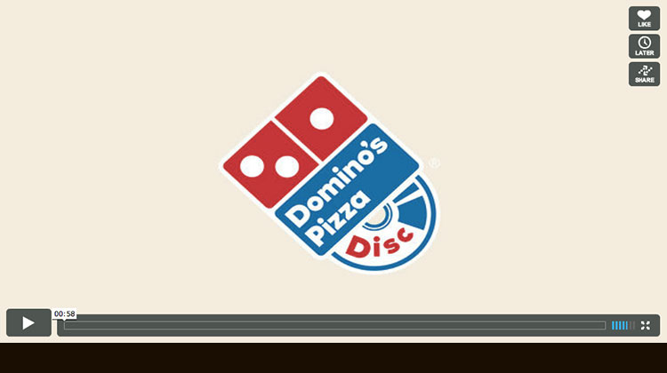 Direct Marketing แนวใหม่กับ Domino's Pizza Disc