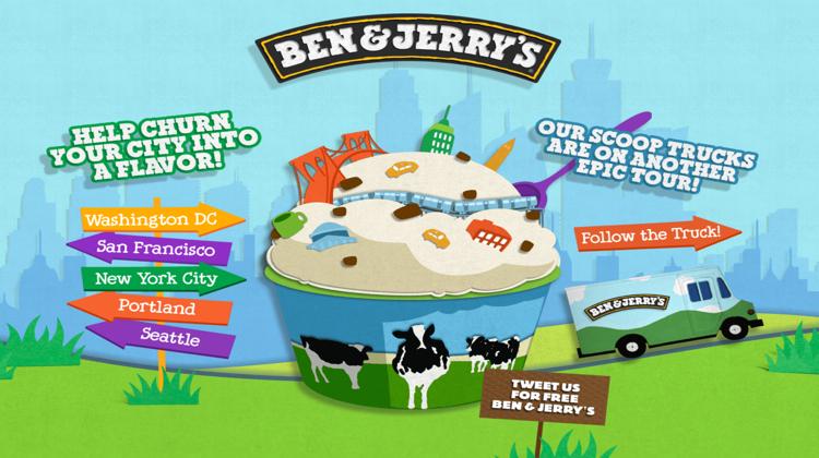Ben&Jerry ใช้ทุกวิธีเพื่อให้คนเมืองช่วยโหวตไอศกรีมรสใหม่