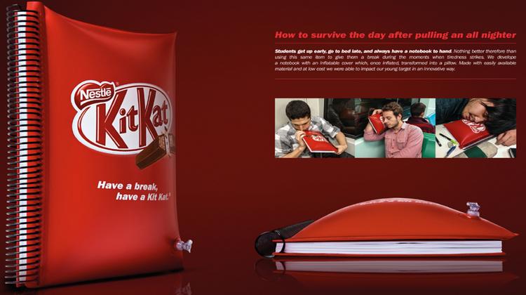 Kitkat ช่วยให้คนได้พัก กับสมุดโน้ตสุดนิ่ม