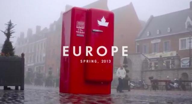 ตู้เย็นเปิดได้ด้วยพาสปอร์ต กลยุทธ์ใหม่ขายเบียร์สัญชาติแคนาดา