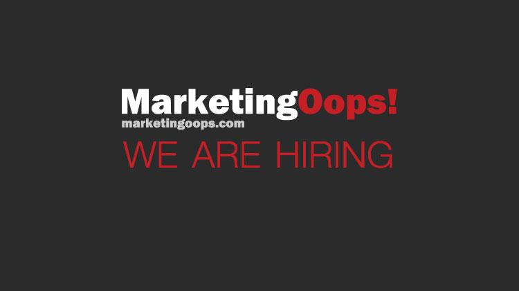 MarketingOops! รับสมัครทีมงาน 2 ตำแหน่ง