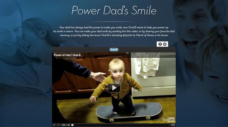 Oral-B ปลุกอารมณ์รักพ่อด้วย YouTube