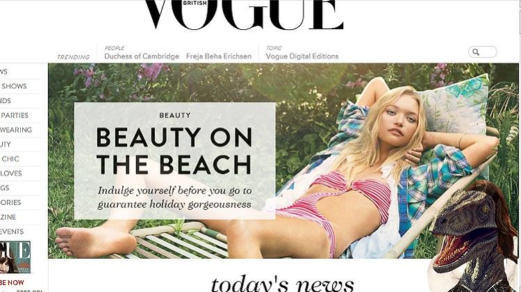 เว็บไซต์ Vogue UK ถูกแฮค? ไดโนเสาร์บุกเมื่อพิมพ์รหัส Konami Code