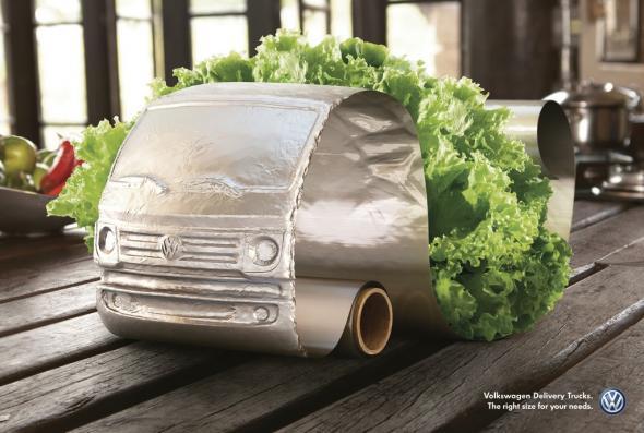 ไอเดีย Print Ad จาก Volkswagen