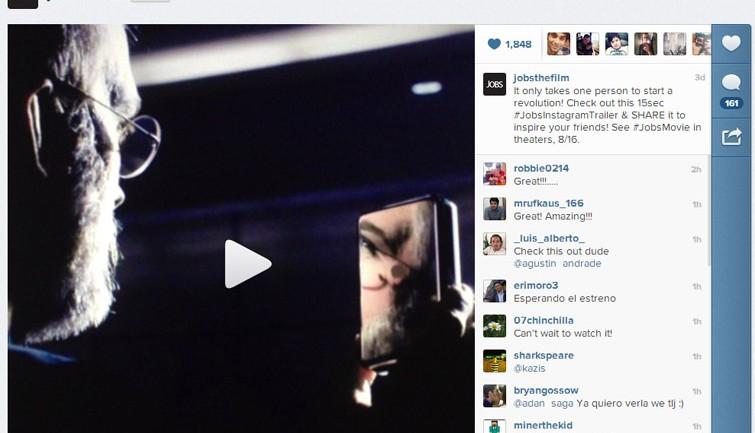 หนัง Jobs โปรโมตผ่าน Instagram VDO