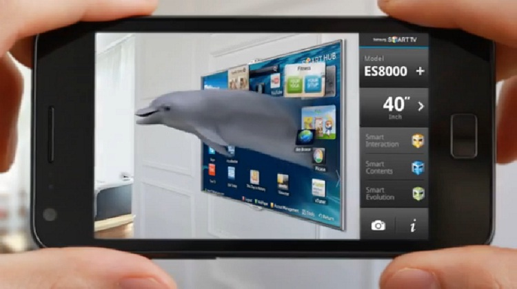 Samsung ช่วยเจ้าของบ้านจำลองภาพทีวีใหม่ในห้องนั่งเล่น