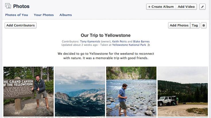 เฟซบุ๊คเตรียมเปิดให้หลายคนทำอัลบั้มรูปเดียวกันได้