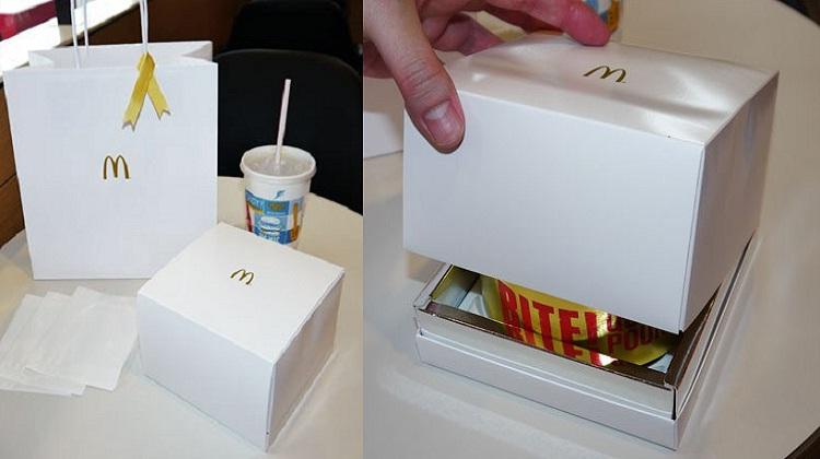 แมคโดนัลด์ญี่ปุ่น ห่อเบอร์เกอร์อย่างหรูเหมือนกล่องเครื่องเพชร