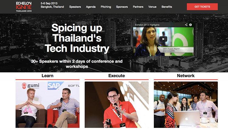 Echelon Ignite Thailand 2013 จุดไฟให้คนเทคโนโลยี จาก 25 คนวงการไอทีระดับโลก