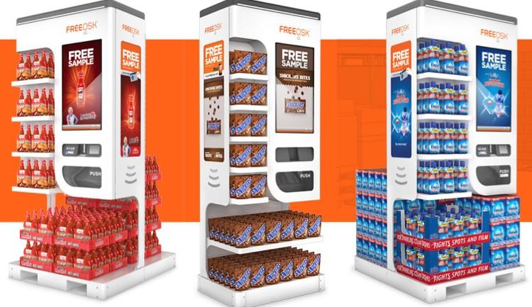 FREEOSK นวัตกรรมใหม่ของการแจก Sampling ด้วยตู้แจกสินค้าตัวอย่างแบบอัตโนมัติ