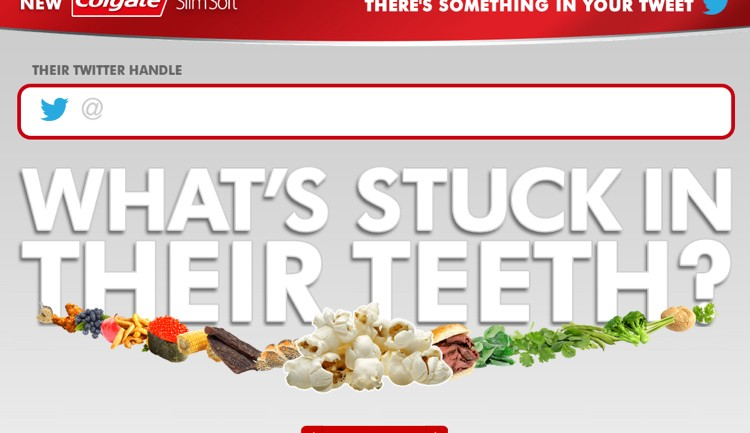 คอลเกตเพิ่มยอดขายแปรงสีฟันด้วยทวีตแกล้งเพื่อนว่ามีขี้ฟัน!