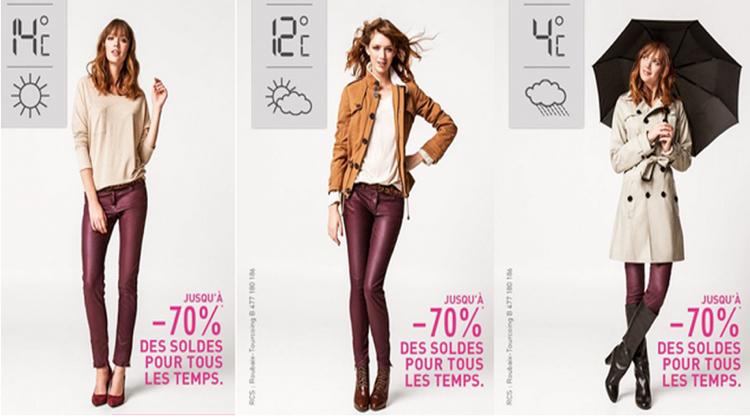 บิลบอร์ดอัจฉริยะขายเสื้อผ้าตามสภาพอากาศ