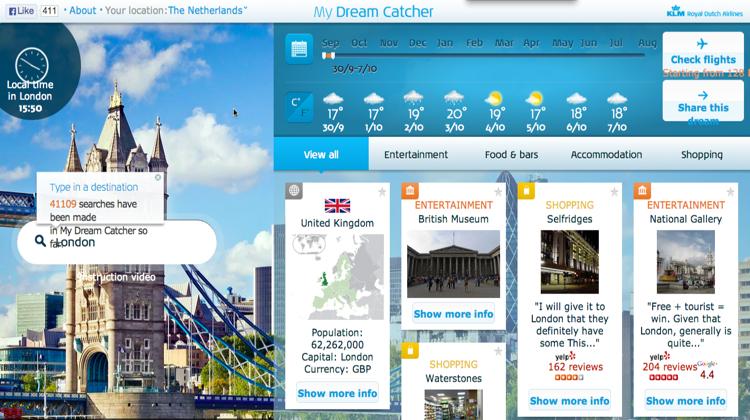 KLM ออกเว็บเฉพาะกิจ กระตุ้นคนเดินทางตามฝันด้วยเว็บแนะนำสถานที่จาก Social Review