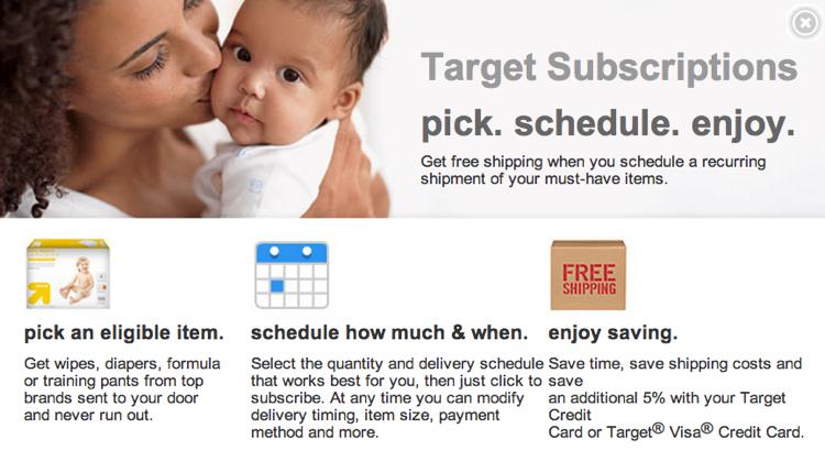 Target รุกโมเดล Subcom ขายสินค้าเด็กอ่อนรายเดือน