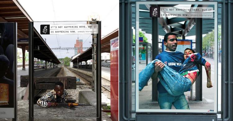 NGO ใช้สื่อ Outdoor ด้วยเทคนิคภาพลวงตา สื่อปัญหาใหญ่โลกที่ 3 กระตุ้นยอดบริจาค