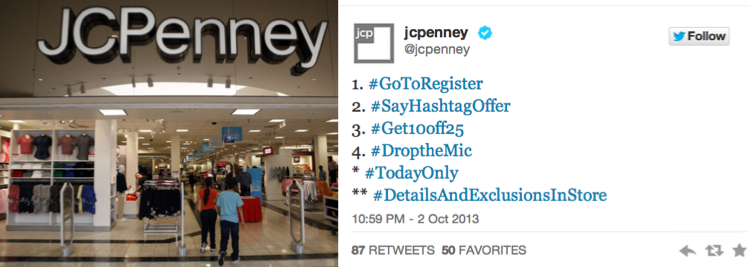 JCPenny กระตุ้นยอดขายด้วยวิธีง่ายๆ แจกส่วนลดผ่าน Hashtag