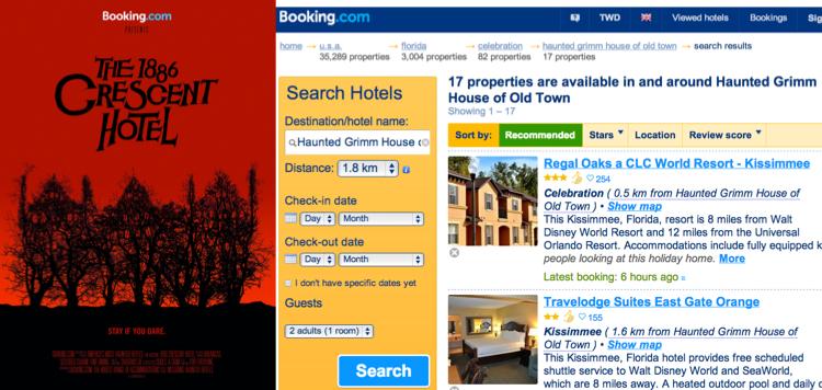 Booking.com ฉลองคืนฮัลโลวีนด้วยห้องพักที่มีตำนานสยอง!