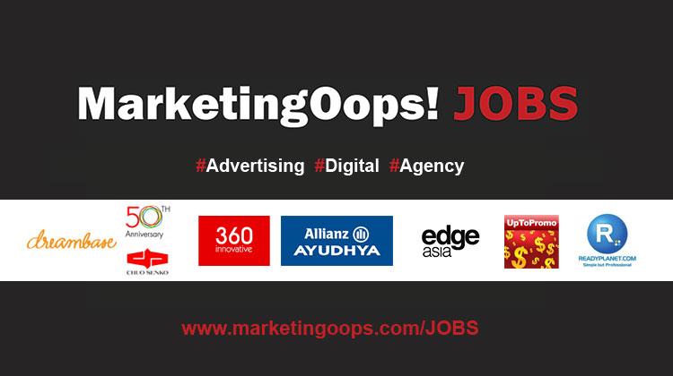 อัพเดท…งานด้านดิจิตอลมาใหม่จาก MarketingOops Jobs ประจำวันที่ 11 ตุลาคม 2556
