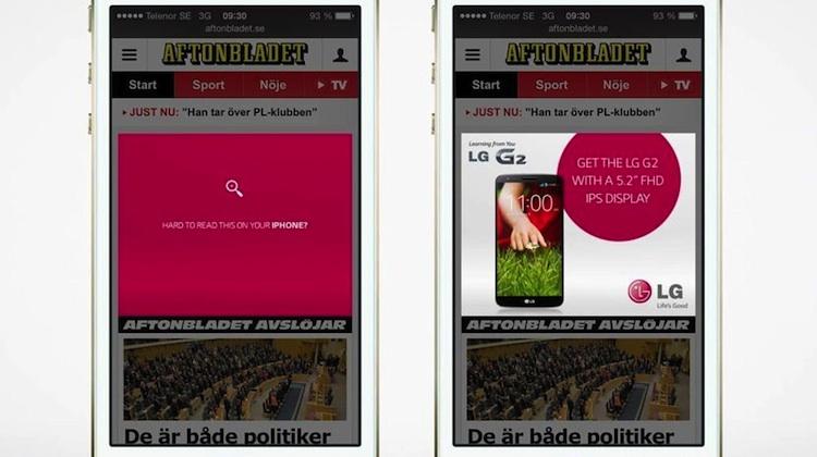 LG Mobile สร้างโฆษณาอัจฉริยะ