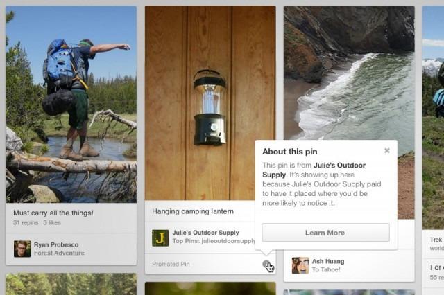 Pinterest มีโฆษณาแล้ว