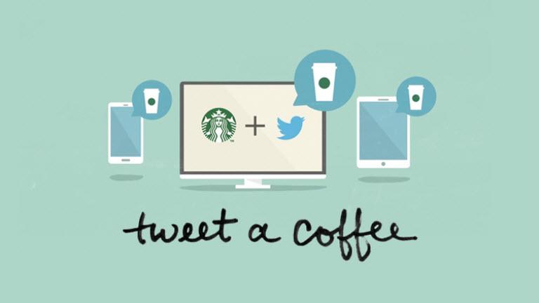 Starbucks สุดเก๋ไก๋ไฮเทคให้ลูกค้าใช้ Twitter ส่งกาแฟให้เพื่อน