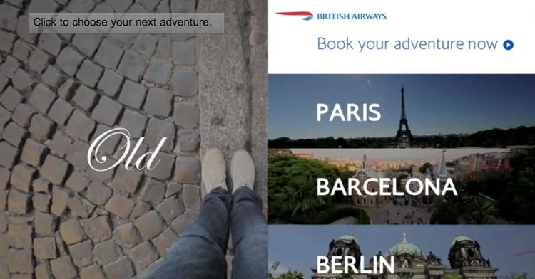 British Airways ใช้คลิปยูทูบแบบอินเตอร์แอคทีฟ ซ้อมเที่ยวทั่วยุโรป