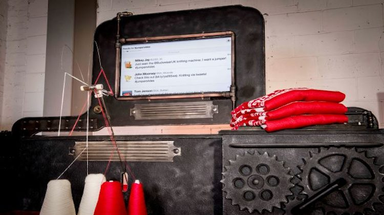 Twitter powered knitting machine unveiled