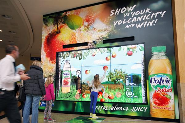 Volvic digital signage digital out of home shopping center