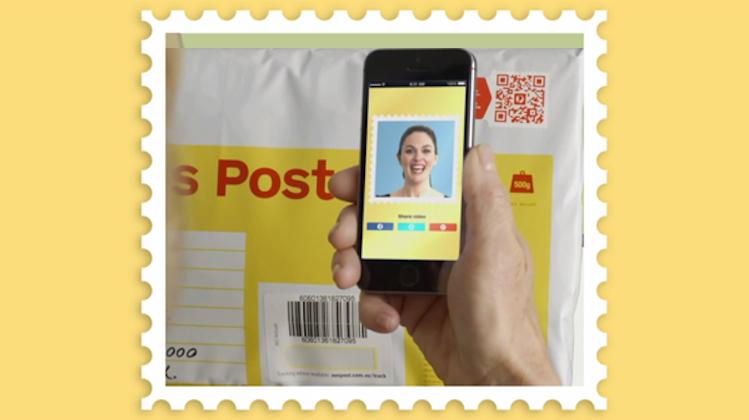 """ไปรษณีย์ออสซี่โชว์เก๋ """"Video Stamp"""""""