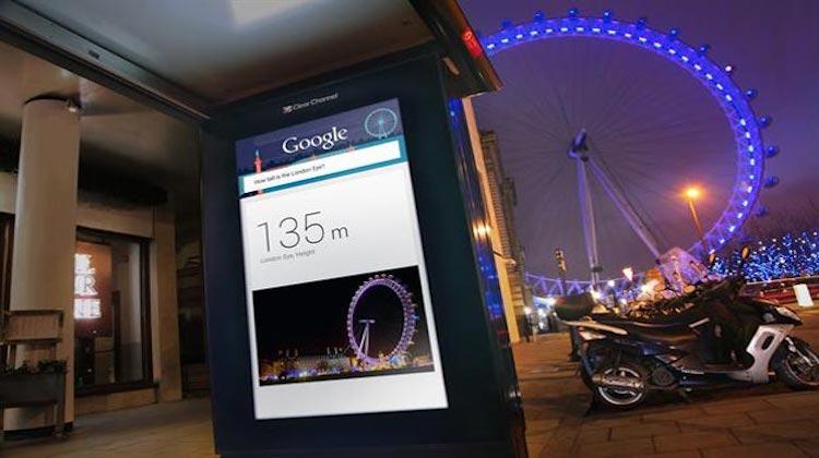 Google ควงลอนดอนเสกป้ายรถเมล์เป็นศูนย์ข้อมูลท่องเที่ยวออนไลน์