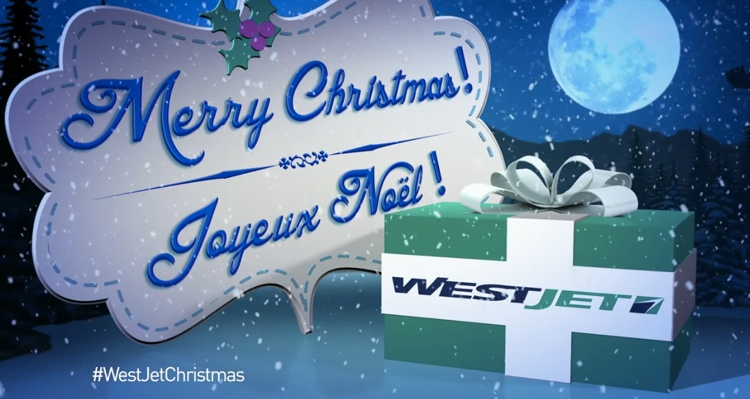 WestJet ขอบคุณลูกค้าด้วยซานต้าตัวจริงกับของขวัญที่ถูกใจ