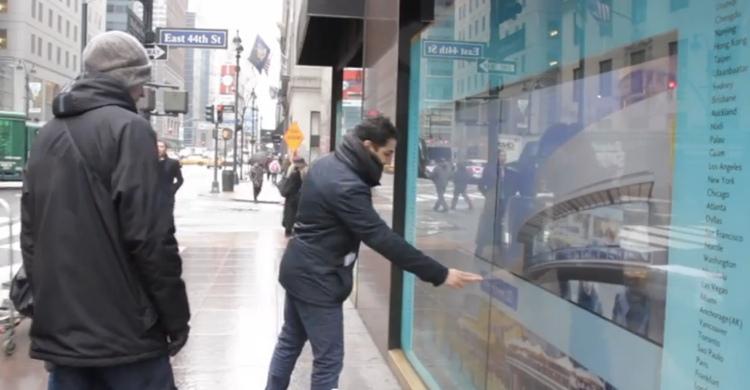 Korean Air ใช้ Video Wall ระบบทัชสกรีน โปรโมทแบรนด์และเล่นกิจกรรมกับลูกค้าใจกลางนิวอร์ก