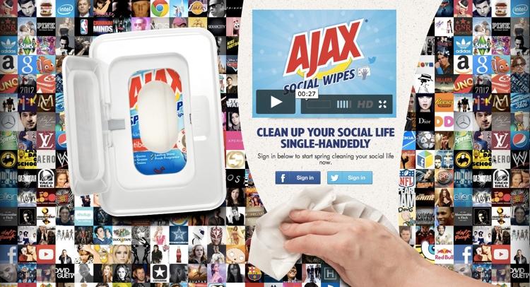 Ajax ทิชชู่มหัศจรรย์ นอกจากทำความสะอาดได้คราบ แล้วยังขจัดสแปมใน Social Network ได้อีกด้วย!