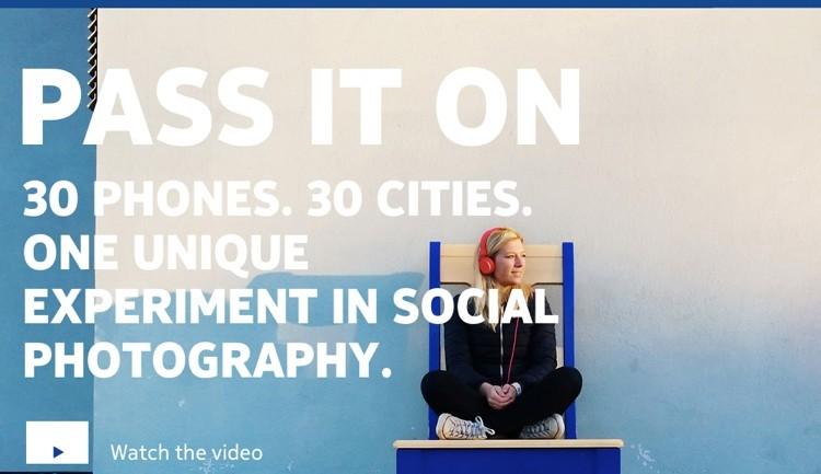 โนเกียส่งแคมเปญเจ๋ง Pass it on ส่งมือถือให้คนแปลกหน้า 30 เมืองไปเล่นและส่งต่อให้คนอื่นแบบไม่รู้จบ