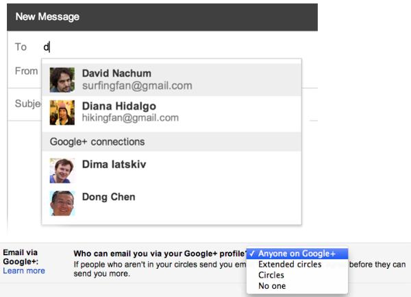 ส่ง Gmail หาเพื่อน Google Plus ได้โดยไม่ต้องรู้อีเมล