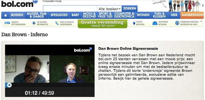 """Bol ร้านหนังสือออนไลน์ จับ """"แดน บราวน์"""" มาเซ็นหนังสือใหม่ผ่านเว็บแคม!"""