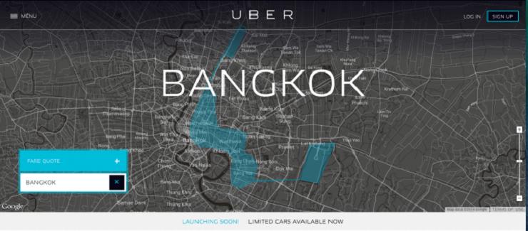 Uber แอพเรียกแท็กซี่เปิดให้บริการแล้วในกรุงเทพฯ