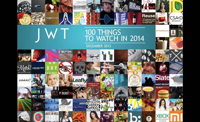 JWT อัพเดท 100 Things to Watch ล่าสุดสำหรับปีนี้ 2014