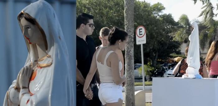 NGO บราซิล โชว์ความมหัศจรรย์รูปปั้นพระแม่มารีหลั่งน้ำตาเป็นเลือด กระตุ้นหยุดการทำร้ายสตรี