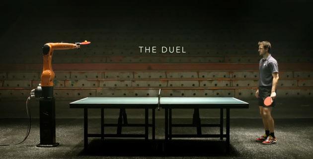 The Duel จับหุ่นยนต์มาแข่งปิงปองกับคนจริงๆ สุดยอดโฆษณาของวงการอุตสาหกรรมการผลิต