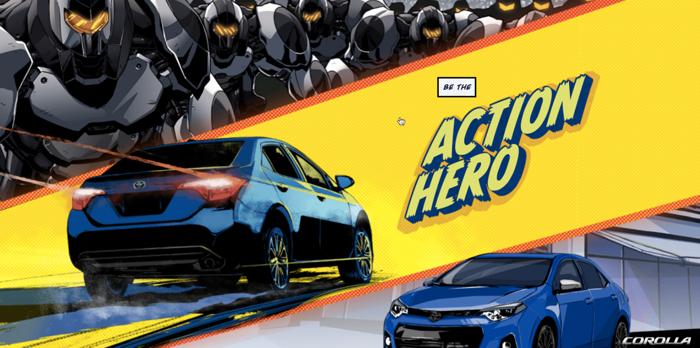 โตโยต้าใช้การ์ตูนอินเตอร์แอคทีฟออนไลน์ขายรถคันแรงกับกกลุ่มวัยซ่า
