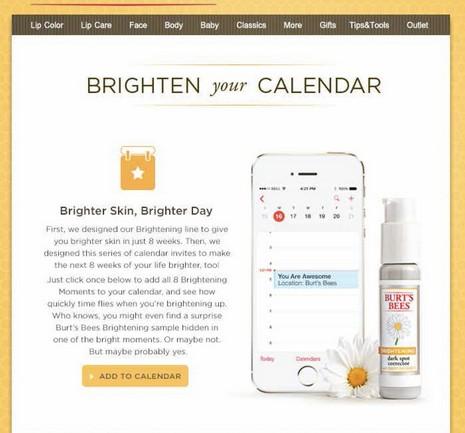 Burt's Bees โปรโมทสินค้าใหม่ด้วยไอเดียเด็ด ส่งสารโฆษณาหาลูกค้าผ่านฟีเจอร์ปฏิทินในมือถือ