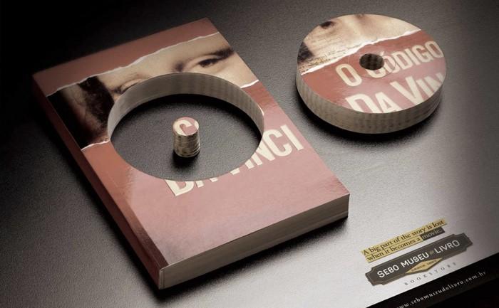 ร้านหนังสือใช้ Print Ad ภาพแรงสื่อความขลังของหนังสือดัง ที่แม้หนังยังสู้ไม่ได้!