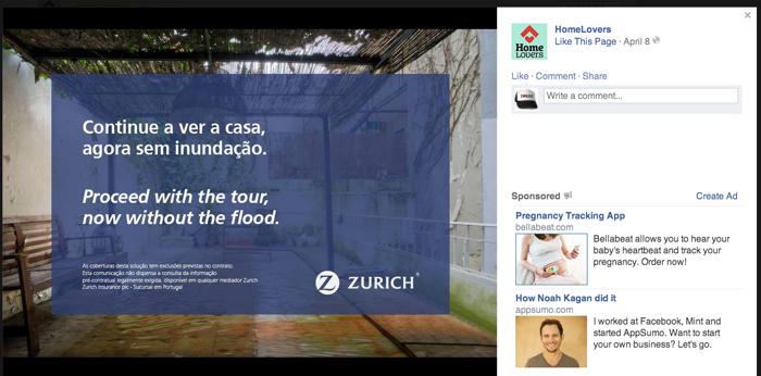บริษัทประกันหัวใส ใช้รูปใหญ่ๆ ในเฟซบุ๊กพาลูกค้าไปเห็นผลร้ายของการไม่ทำประกันบ้านอย่างโดนใจ