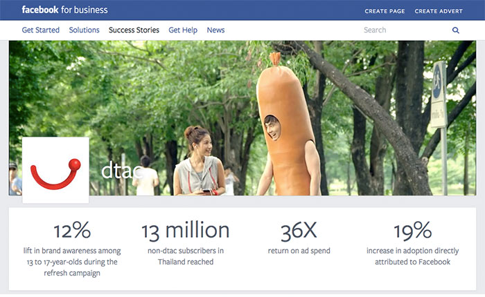 ดีแทค 1 ใน Success Case ของ Facebook Business Marketing
