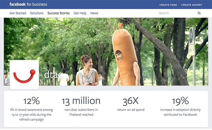ดีแทค 1 ใน Success Case ของ Facebook Business Marketing
