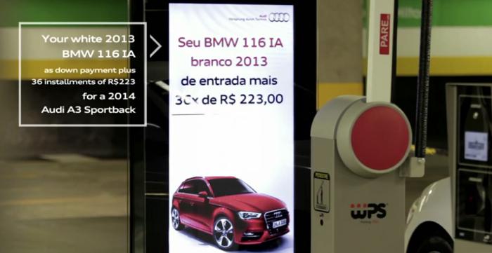 Audi กระตุ้นคนเทิร์นรถเก่ามาถอยรถใหม่ ด้วยบิลบอร์ดประเมินราคารถเก่ารายคันและเรียลไทม์